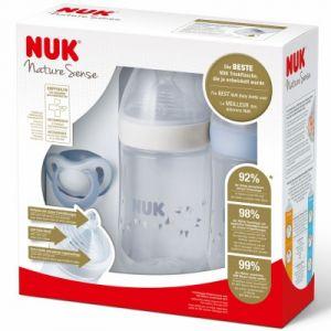 Nuk Kit de 2 biberons Nature Sense 260 ml + 1 sucette
