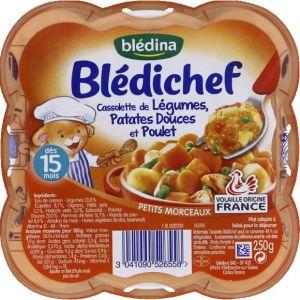 Blédina Blédichef Cassolette de légumes papates douces et poulet 250 g - dès 15 mois