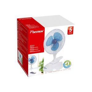 Bestron ACF15 - Ventilateur de bureau à pince 19 cm 15 W
