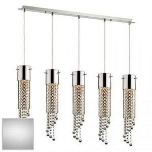 Ideal lux Suspension 5 lampes design Gocce Chrome Métal 089638