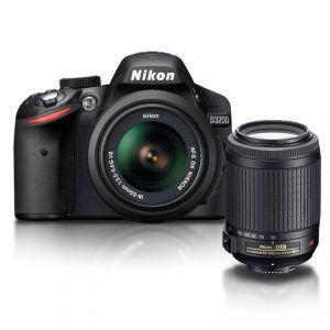 Nikon D3200 (avec 2 objectifs 18-55mm et 55-200mm)