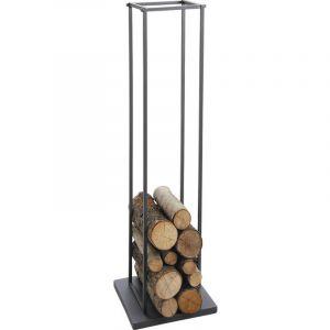 Range-bûches en métal 33 x 33 x 115 cm