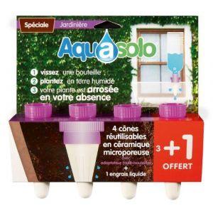 Aquasolo Goutte à goutte jardinières mauve 3+1 gratuit