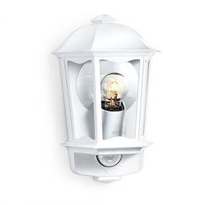Steinel L 190 S Lanterne blanche %u2013 Luminaire extérieur à détecteur de mouvement, portée max. 12 m, applique en aluminium
