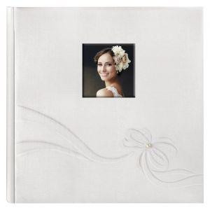 Zep KN323230 Album Photo Traditionnel 60 Pages 32x32 cm Collection Mariage Karen Tissu, Blanc