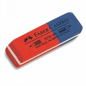 Faber-Castell Gomme en caoutchouc-combiné 7070-40, rouge / b