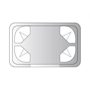 Vénus - Hammam droit 4 places 212 x 134 x 210 cm