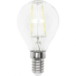 LightMe Ampoule LED E14 LM85265 en forme de goutte 4 W = 40 W blanc chaud (Ø x L) 45 mm x 75 mm EEC: classe A++ à intens