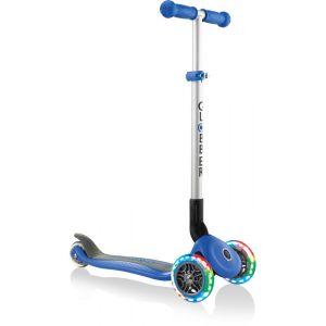 Globber Trottinette enfant 3 roues pliable Primo roue lumineuse bleu marine