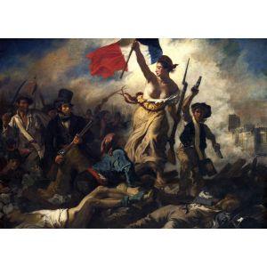Grafika Delacroix Eugène La liberté guidant le peuple, 1830 - Puzzle 24 pièces