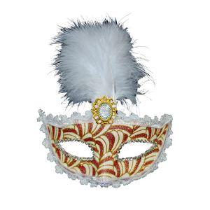 Smiffy's Loup marquise plume et dentelle