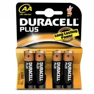 Duracell Plus 4 piles AA (LR06)