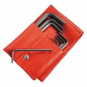 Facom Jeu de 10 clés mâles 6 pans courtes en pouces en trousse 82H.JU10