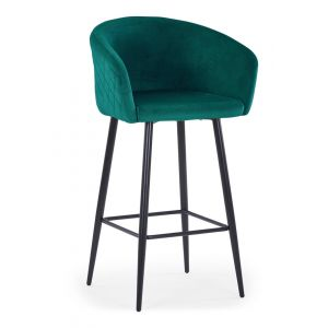 No Chaise de bar Bobby Velours Vert