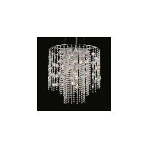 Ideal lux Suspension Evasione 8 ampoules en métal chromé et cristal