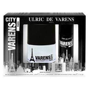 Ulric de Varens Coffret Varens City Paris : eau de toilette 50 ml et déodorant 50 ml