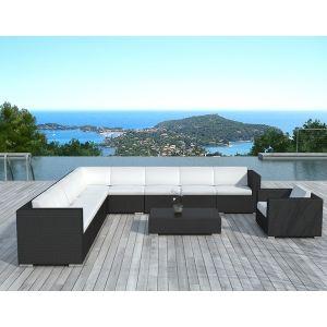 Delorm Design SD9503 - Salon de jardin d'angle Nice en résine tressée