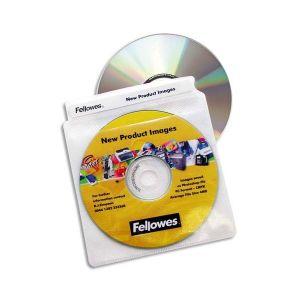Fellowes 9831201 - Lot de 100 pochettes plastiques pour CD/DVD