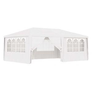 VidaXL Tente de réception et parois latérales 4x6 m Blanc 90 g/m²