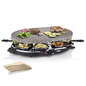 Princess 162720 - Raclette et pierre à griller 2 en 1 ovale pour 8 personnes