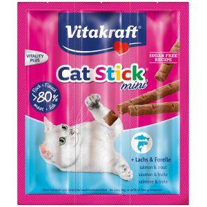 Vitakraft Cat-Stick Mini au Saumon et à la Truite - 3 pièces de 6 g