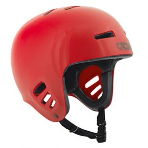 TSG Dawn Solid Color Casque Mixte, Rouge, Taille L-XL