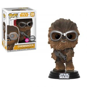 Funko POP! - Star Wars - 239 - Chewbacca [Flocked] [Exclusive] [Bobble Head] [Figurine POP]