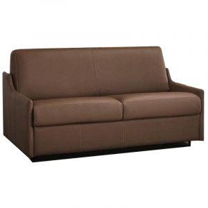 INSIDE Canapé Convertible Rapido LUNA En Cuir vachette 140*190cm