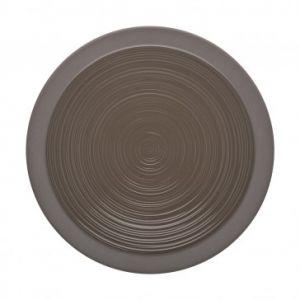 Guy Degrenne Assiette plate ronde 29cm basalte en grès - A l'unité - Bahia