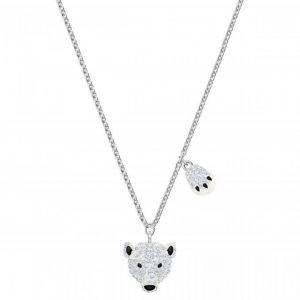 Swarovski Collier et pendentif 5499633 - Polar Bestiary Métal Rhodié Argenté Hommage à la vie sauvage du Cercle Arctique Femme