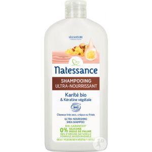 Natessance Shampooing Ultra Nourrissant Karité Bio et Kératine Végétale - 500 ml