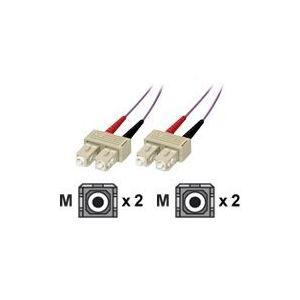 MCL Samar FJOM3/SCSC-3M - Fibre optique SC/SC multi-mode OM3 50/125 microns 3 m