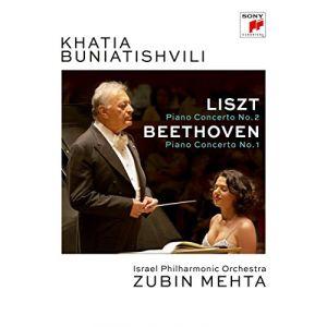 Khatia Buniatishvili : Litz Piano Concerto n°2 + Beethoven Piano Concerto n°1 [Import italien] [DVD]