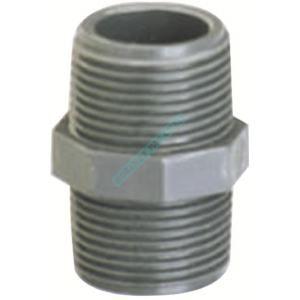 GIRPI Mamelon double fileté K62 PVC-U diamètre 40x49 réf. BED50