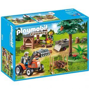 Image de Playmobil 814 Country - Abatteur avec tracteur