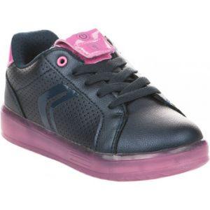 Geox J Kommodor A, Sneakers Basses Fille, Bleu (Navy/Fuchsia), 34 EU