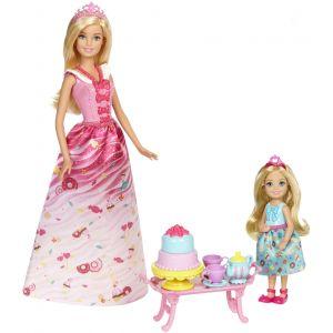 Mattel Coffret Barbie et Chelsea Princesses Bonbons