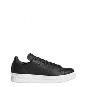 Adidas Stan Smith New Bold W Chaussures de Fitness Femme, Noir Negbás/Ftwbla 000, 38 2/3 EU