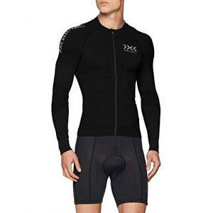 X-Bionic Race EVO Maillot manches longues Homme, black/black XL Maillots route