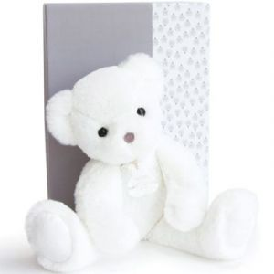 Histoire d'ours Coffret peluche Ours Moonlight Les ours poudrés blanc (25 cm)