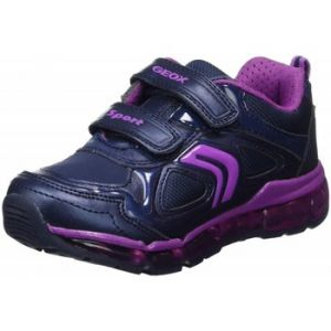 Geox Android A, Sneakers Basses Fille, Bleu (Navy/Purple), 35 EU