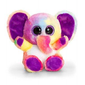 Keel Toys Peluche 15cm Animotsu Arc-En-Ciel Éléphant