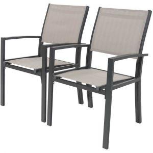Habitat et Jardin Tropic Phoenix - 2 fauteuils de jardin alu/textilène