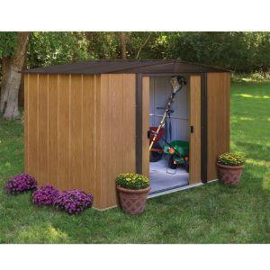 Chalet et Jardin BM 108 - Abri de jardin en métal aspect bois 6,90 m2
