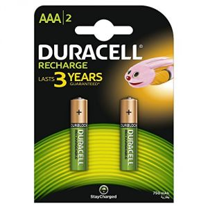 Duracell Recharge AAA 2 piles rechargeable 750 mAh 2x