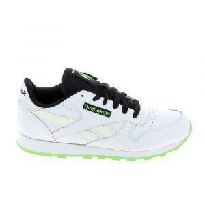 Reebok Basket mode sneaker classic lea jr blanc noir vert 34 1 2