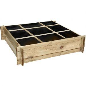 Cemonjardin Carré potager en bois petit modèle