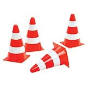 Rolly Toys 4 cônes de chantier
