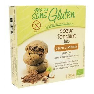 Ma vie sans gluten Coeurs fondants Bio cacao & noisette (200g)