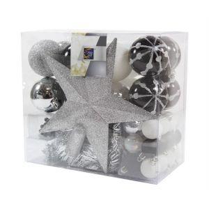 Aspen - Kit de décoration de sapin de Noël (noir)